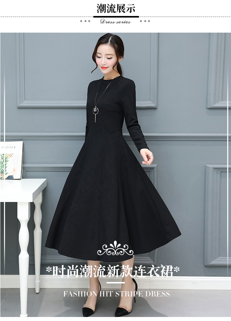 86c0f6b544b87 US $16.67 23% OFF|2018 Autumn Winter New Plus Size Vintage Black Midi  Dresses Women Bodycon Sexy Solid Maxi Dress Party Long Sleeve Runway  Vestido-in ...
