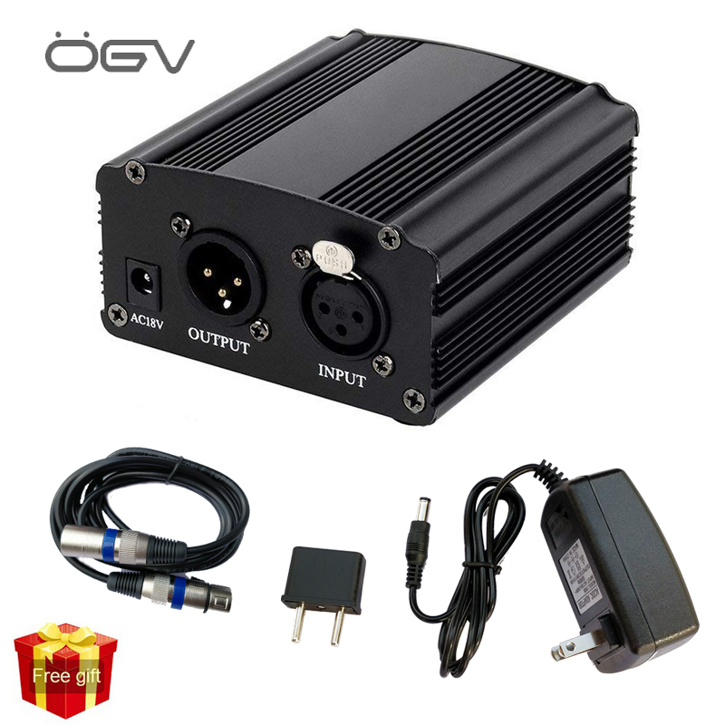 The New 48v Phantom Power Supply With Adapter Eu 3m Audio Xlr Cable For Condenser Microphone