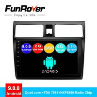 FUNROVER 2.5D+IPS android 9.0 car dvd multimedia player For Suzuki Swift 2005 2018 radio gps navigation stereos autoradio RDS BT