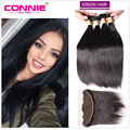 13*4 Ear to Ear Lace Frontal Closure with Bundles Malaysian Virgin Hair Straight Human Hair with Closure Malaysian Straight Hair