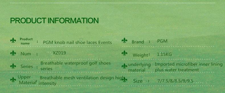 Nova patente sapatos de golfe PGM de