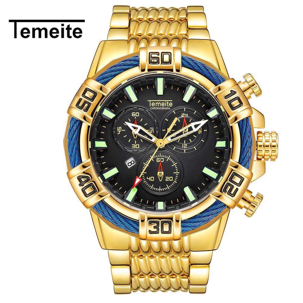 2019 Watches Men Fashion Military Stainless Steel Sport Quartz Wristwatches Luxury Rose Gold Business Watch Relogio Masculino Q5 Quartz Watches