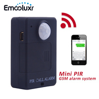 Black Wireless GSM PIR Alarm Monitor Simple Easy Use GSM Home Security Alarm System PIR Infrared