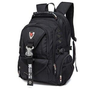 Image 2 - Waterproof Oxford Swiss Backpack Men 17 Inch Laptop backpacks Travel Rucksack Female Vintage School Bags Casual bagpack mochila