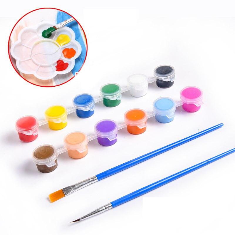 Initiative 12 Farben Acryl Farben Waterbrush Pigment Set Für Kleidung Textil Stoff Hand Gemalt Wandputz Malerei Zeichnung Für Kinder Rheuma Lindern