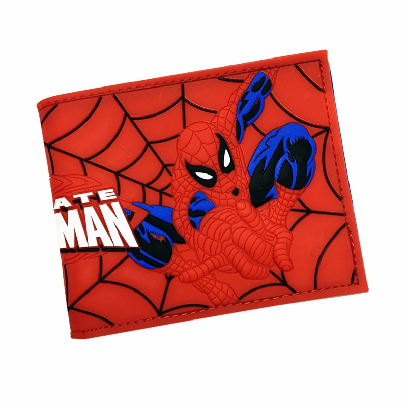 Cartoon Purses 3D Pattern Printing Wallet Money Bag Card Holder Silica gel Wallet Dealpool Spiderman Pokemon Dragonball Wallets anime cartoon pocket monster pokemon wallet pikachu wallet leather student money bag card holder purse