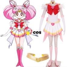 2017 Sailor Moon cosplay costume Chibi Usa Sailor Moon cosplay dress suit costume Tsukino Usagi Small Lady Serenity