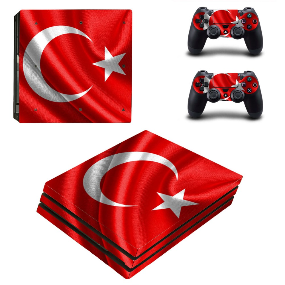 Turkey Flag Vinyl Decal Skin PS4 Pro Sticker Cover For Sony Playstation 4 Pro Console and Controllers