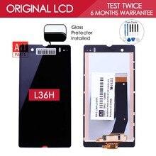 100% Тестирование TFT 1920x1080 ЖК-Экран Для SONY Xperia Z Дисплей с Сенсорным Экраном Дигитайзер L36h L36i C6606 C6603 C6602(China (Mainland))