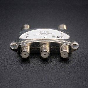 Image 3 - Commutateur Original de DiSEqC de TV de Zinc commutateur de DiSEqC 4x1 antenne Satellite commutateur plat de LNB pour le récepteur de télévision
