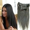7PCS 120G Clip In Human Hair Extensions 6A Malaysian Virgin Hair Straight Clip In Unprocessed 100% Human Hair Free Shipping