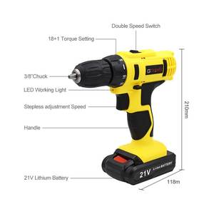 Image 2 - GOXAWEE 21V/12V Electric Screwdriver Cordless With Lithium Batteries Rechargeable Mini Drill 2 Speed Wireless Power Tool