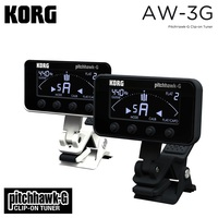Korg Pitchhawk Clip On Tuner Chromatic Guitar and Bass Tuner