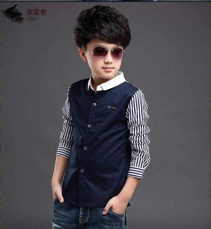 Baby Kids Print Blouses Fall Boys Long Sleeve Shirts 2019 New boys shirts boy top clothes Blouse Back to School Outfit Costume