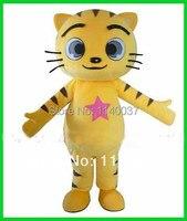 קמע צהוב חתלתול קיטי החתלתול Kitling גודל חתול קמע תלבושות למבוגרים חתול קטן Cosply קרנבל תלבושות