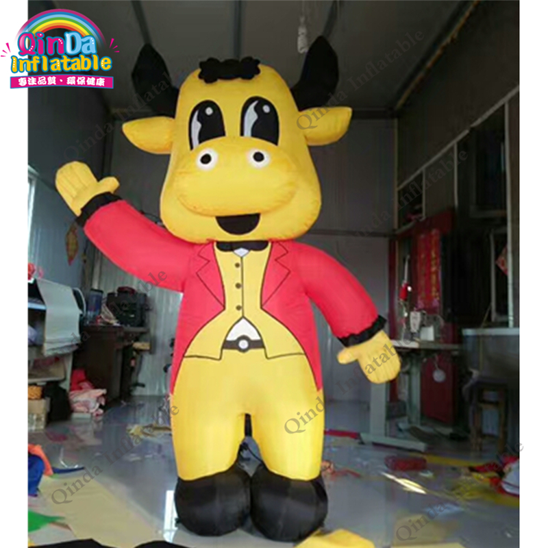 Free Customize Inflatable Cartoon Inflatable Calf Cow Model Advertising Cowl Inflate Standing Bull