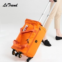 New Fashion 18/20/22 inch Backpack Spinner Travel Bag Casters Trolley Carry On Wheels Women Multi function Bag