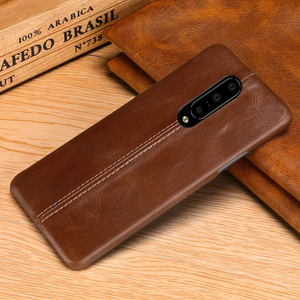 Image 5 - For OnePlus 7/ Pro Case Genuine Leather Case For OnePlus 6 6T Case Cover Luxury Stitching Leather Back Case For OnePlus 7 Pro 6T