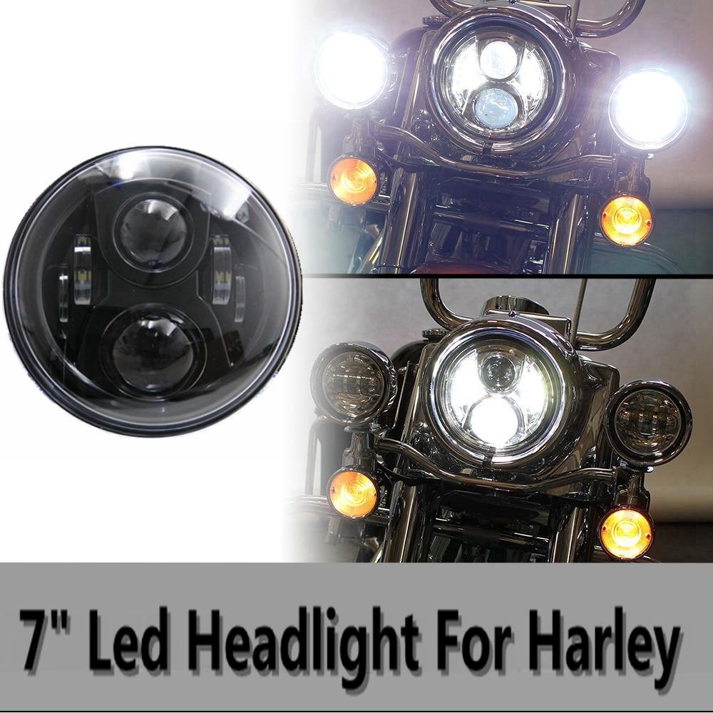 7 Round LED Projectior Headlight for Wrangler Davidson Motorcycle7 Round LED Projectior Headlight for Wrangler Davidson Motorcycle