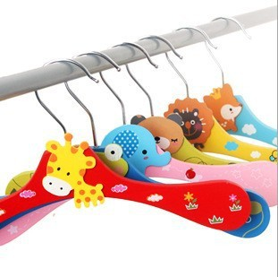 Free Shipping Wooden Cartoon Animal Hangers Lovely