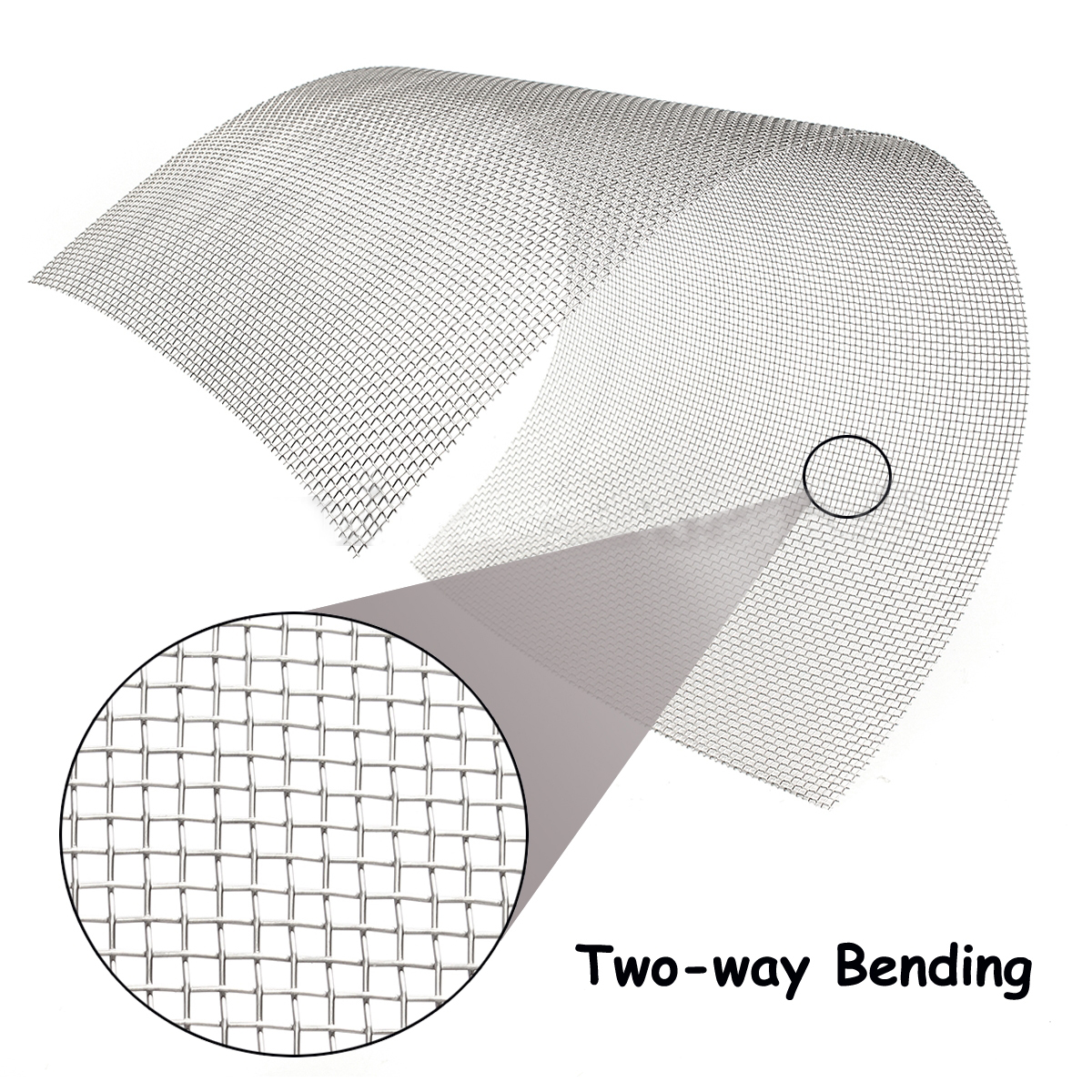 Mayitr 1pc 304 Stainless Steel Mesh 8 Mesh Wire Cloth Screen 30cmx60cm For Cooking Nets 1 roll stainless steel woven wire cloth screen filter 120 mesh 125 micron 30x90cm with corrosion resistance