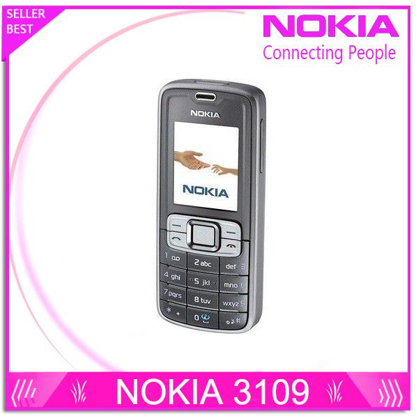 Envío libre barato del teléfono nokia 3109 original celluar teléfono gsm 900/1800/1900 teléfono desbloqueado