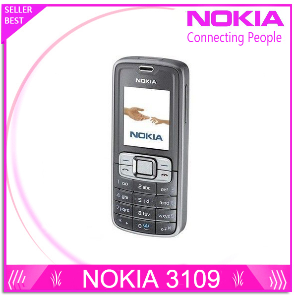 free shipping Cheap phone Nokia 3109 original celluar phone GSM 900 1800 1900 unlocked phone