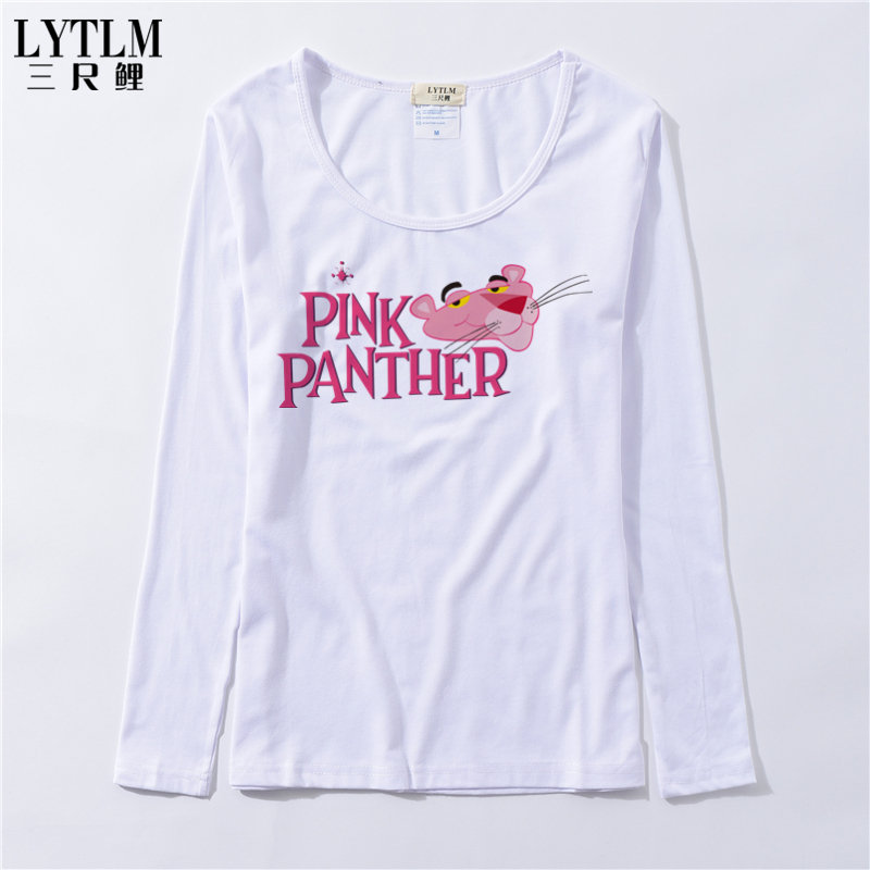 69b77b4fb8eb LYTLM Womens Funny Tops Pink Panther Clothing Fall 2018 Womens Long Sleeve Tee  Shirts Harajuku Kawaii White T Shirt Ropa Mujer-in T-Shirts from Women s ...