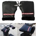 1 Pair Reflective Waterproof Winter Warm Motorcycle Grip HandleBar Gloves Hand Cover
