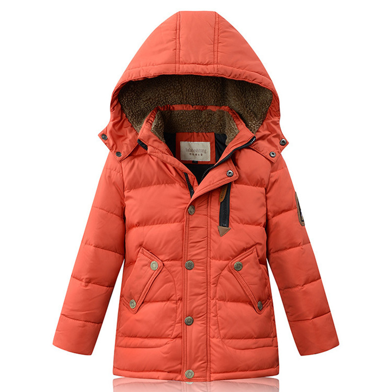 2017 Winter New Boys Down Coat Thermal Middle-Long Cashmere Collar Parkas Kids Cold-proof Overcoat Children 4 Colors 120-170cm women winter coat leisure big yards hooded fur collar jacket thick warm cotton parkas new style female students overcoat ok238