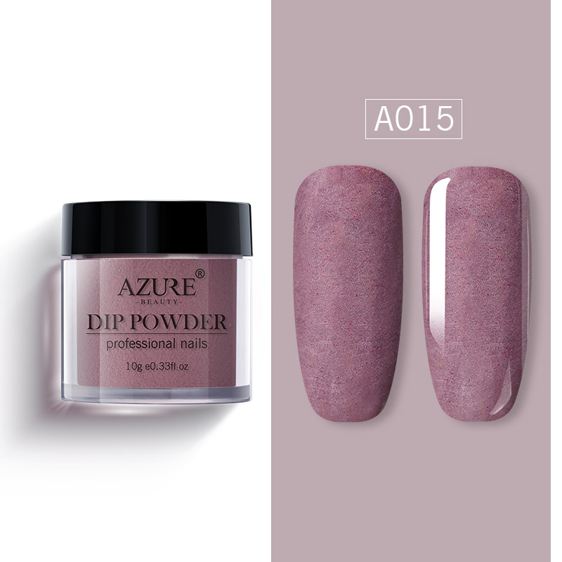 Top-Coat Dipping-Powder Nail Glitter Matte-Effect Gradient-Color Shiny Azure Beauty Newest