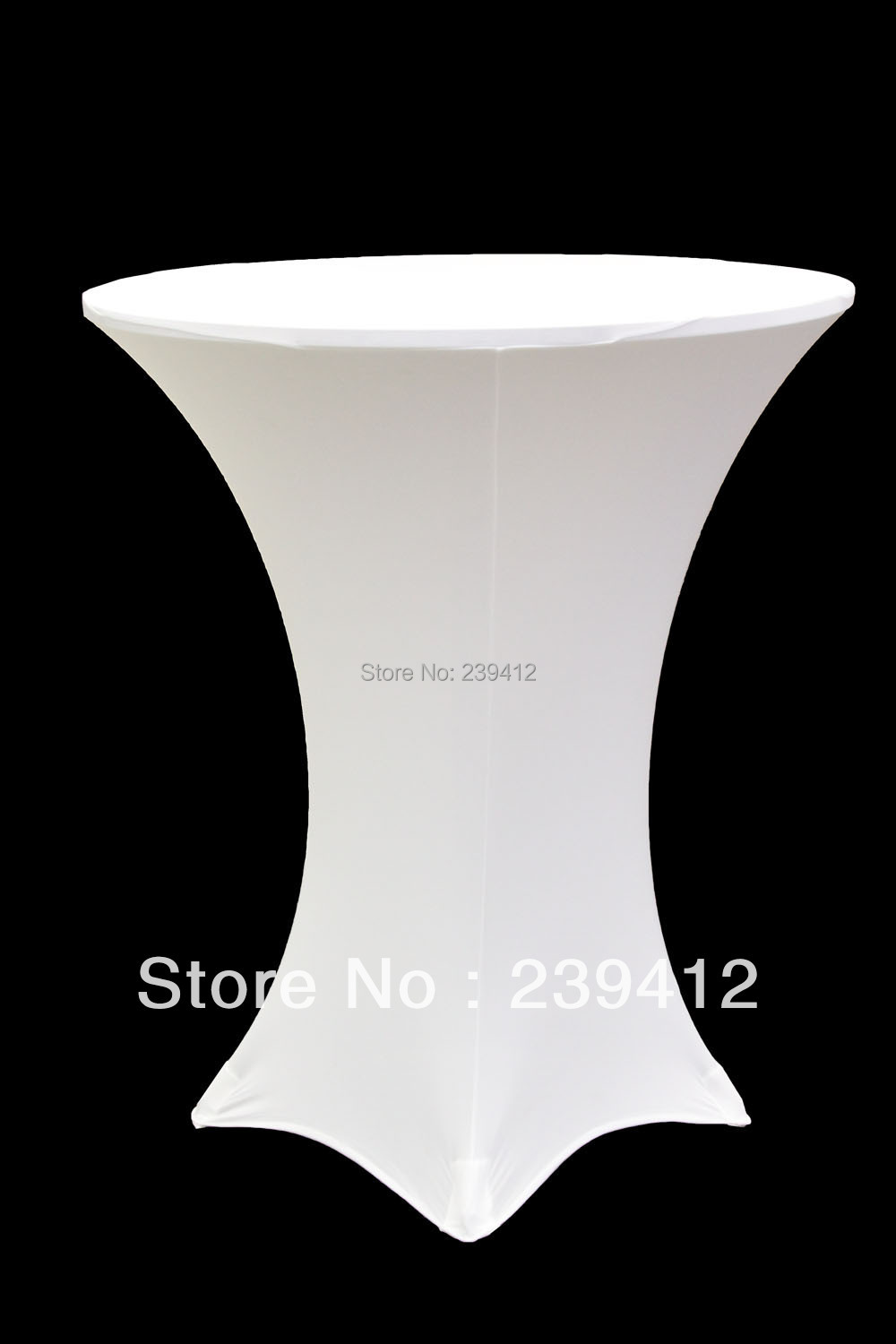 10pcs White Lycra Dry Bar Cover &High Cocktail Table Lycra Cover for Weddings Events &Ba ...
