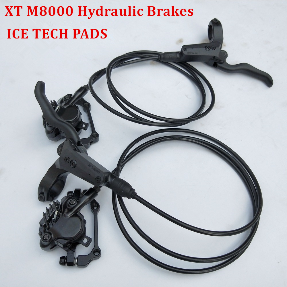 Bicycle Hydraulic Disc Brake For SHIMANO DEORE XT M8000 Left & Right 800/1500mm MTB Mountain Bike Brake Include ICE-TECH PADSBicycle Hydraulic Disc Brake For SHIMANO DEORE XT M8000 Left & Right 800/1500mm MTB Mountain Bike Brake Include ICE-TECH PADS