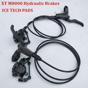 Fahrrad Hydraulische Scheiben Bremse Für SHIMANO DEORE XT M8000 Links & Rechts 800/1500mm MTB Mountainbike Bremse enthalten ICE-TECH PADS