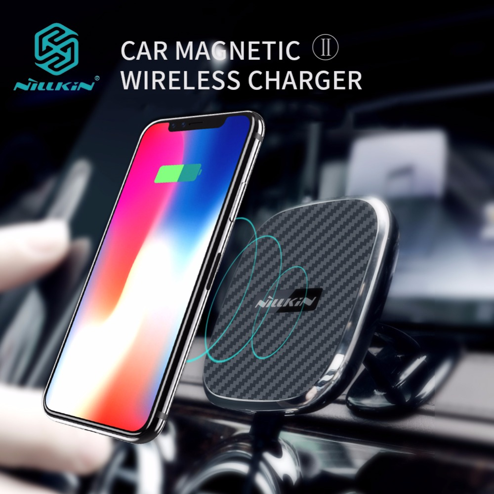 Nillkin Car Magnetic Qi Wireless Charger For iPhone X 8 Plus Quick Charge Fast Wireless Charging Car Holder For Samsung S9 S8 S7