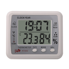 Cheapest prices Digital LCD Thermometer Hygrometer Electronic Temperature Humidity Meter Weather Station Indoor Outdoor Tester Alarm Clock