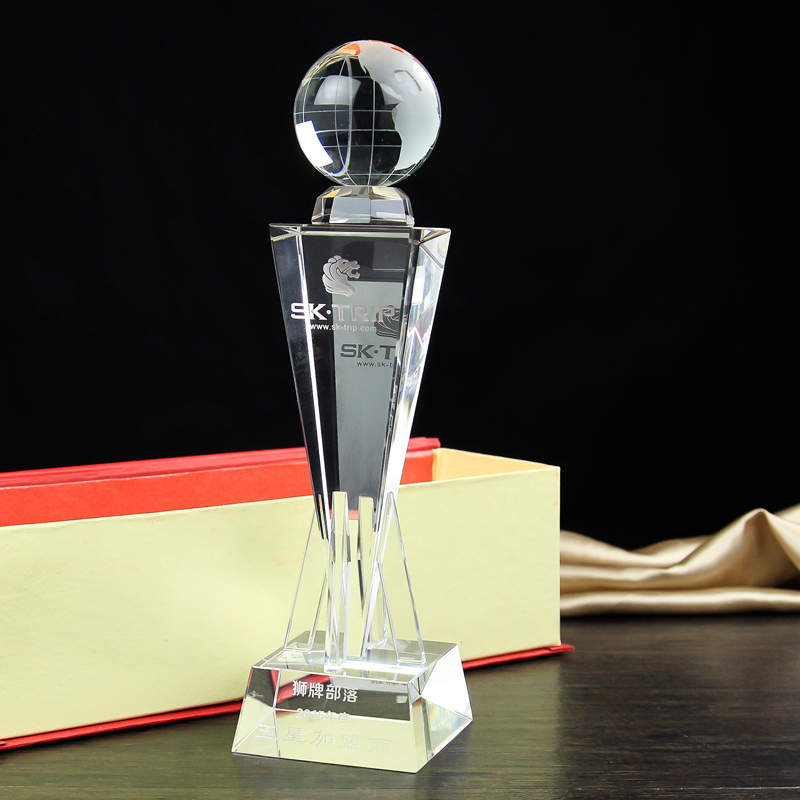 цена на 29cm High-grade crystal cup trophy football basketball earth golf tournament trophies