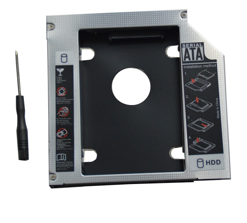 WZSM New 2nd SATA HDD SSD Hard Drive Caddy for Lenovo ideapad 310 510