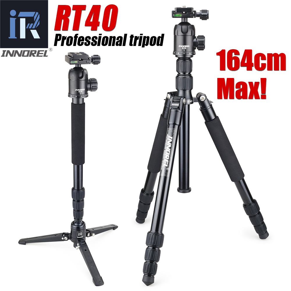 RT40 Professional Travel tripod monopod Compact Aluminum camera stand for DSLR Camera Upgraded from E306 Better