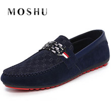 Fashion Men Flat Casual Shoes Spring Autumn Loafers Soft Moccasins Slip On Male Breathable Plus Size 39-46 Gommino Driving Shoes