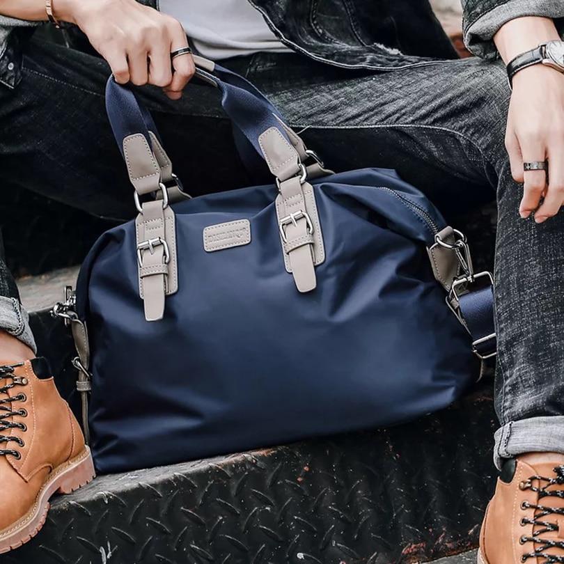 Haute qualité en plein air hommes femmes sac de sport fourre-tout sac polochon multifonction Portable voyage entraînement Gym Fitness sac bleu