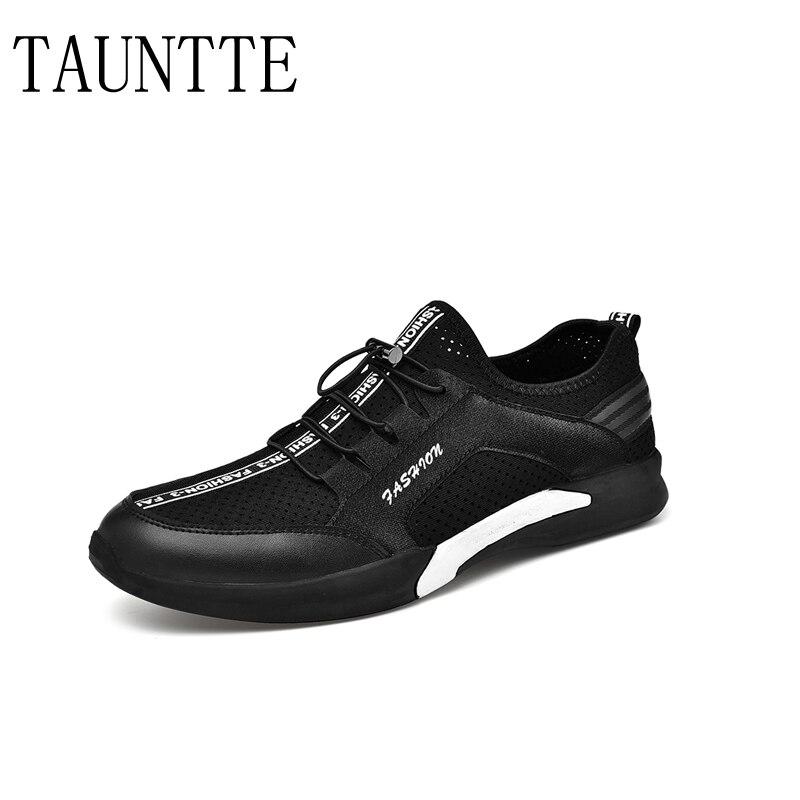 Verão Sapatos Casuais Out Masculino Homens De Elástico Moda branco Respirável Aérea Oco Das Dos Malha Da Sapatilhas Preto 0wEqUfF