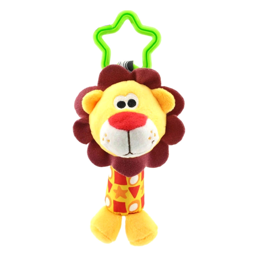 New Arrial Children Plush Toys Colorful Animal Hanging Bed Crib Stroller Appease Dolls Rattles Grasping Toy Boy Girl TY