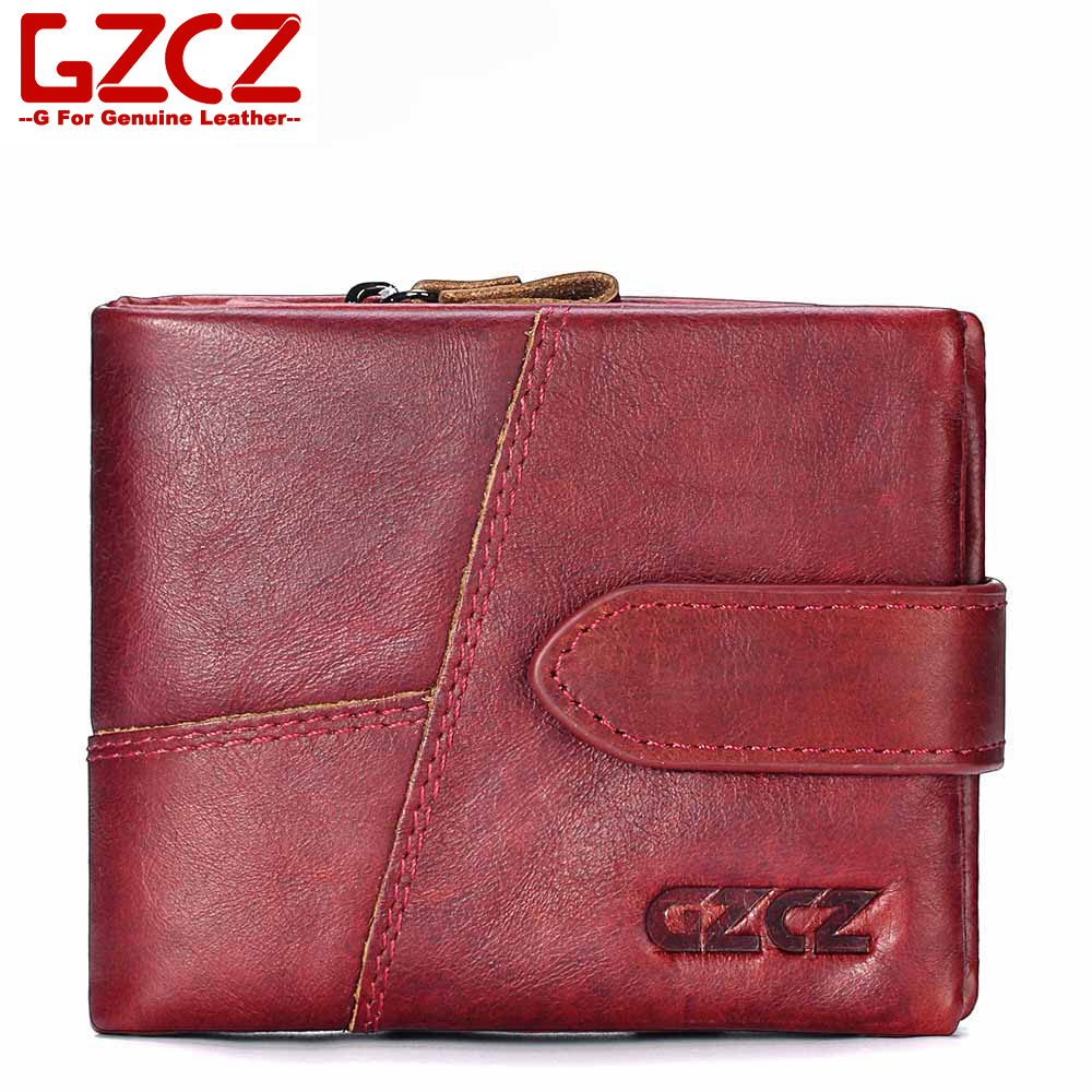 GZCZ Classic Wallet Photo-Card-Holder Coin-Pocket Men Purse Designer Luxury