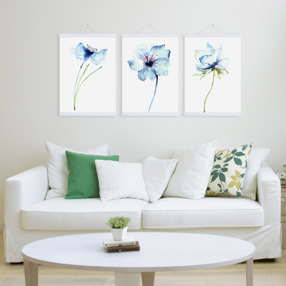 Modern watercolor minimalist alpine orchid flowers a4 for Alpine decoration