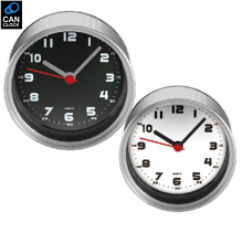 By ePacket Digital Metal White Table Clocks Desktop Tin Analog Round Magnet in Kitchen Wall