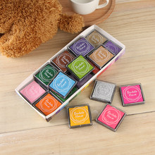 20Pcs/Set 20 Colors cute cartoon DIY ink pad plastic stamp fingerpaint inkpad for scrapbooking decoaration(China)