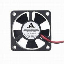 Gdstime 5 pcs/LOT Ball bearing 35mm x 10mm 3510 DC 12V 2-Pin Brushless Cooling Fan