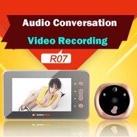 4.3 ''аудио видео разговор цифровой двери Камера глазки просмотра с движения Сенсор Запись 160 широкоугольный Дверные рамы глаз