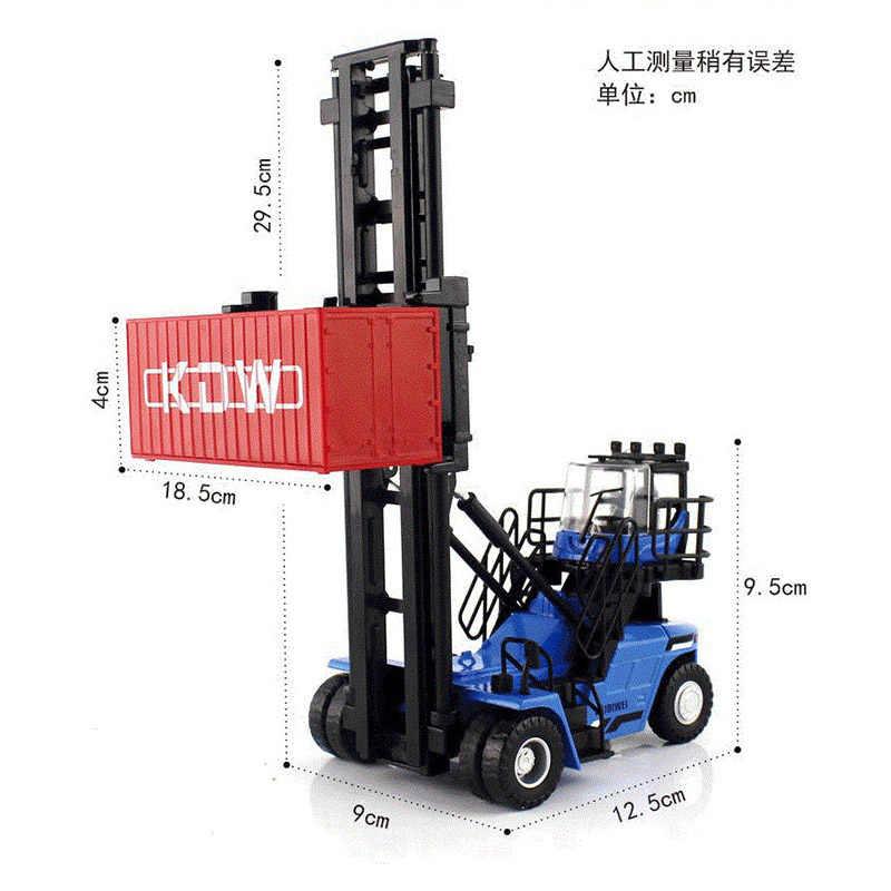 KDW 1:50 Alloy Diecast modelo de carro recipiente Vazio empilhador Construção veículo Coleção decoração crianças brinquedos Presente para as crianças
